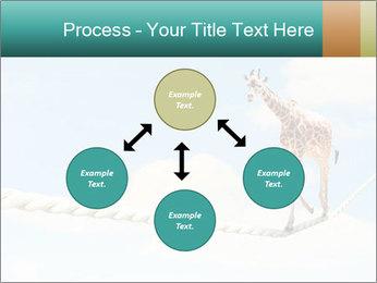 Giraffe walking PowerPoint Template - Slide 91