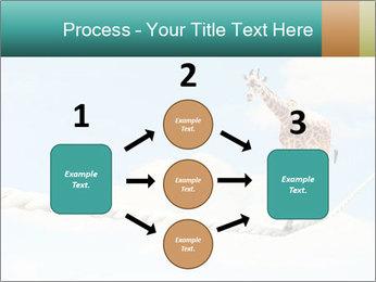 Giraffe walking PowerPoint Template - Slide 92