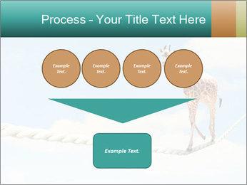 Giraffe walking PowerPoint Template - Slide 93