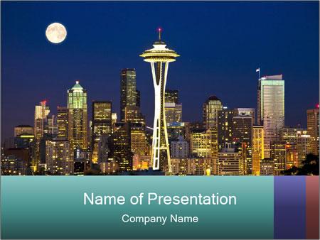 Beautiful nightview PowerPoint Templates