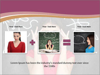 Confused woman PowerPoint Template - Slide 22