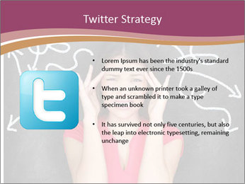 Confused woman PowerPoint Template - Slide 9
