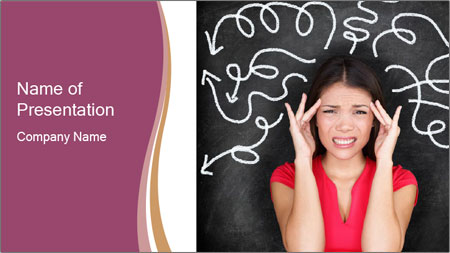 Confused woman PowerPoint Template - Slide 1