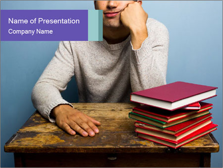 Bored man PowerPoint Templates