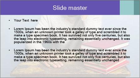 Bored man PowerPoint Template - Slide 2