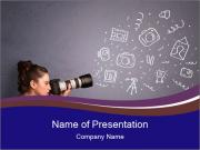 Young photographer PowerPoint Templates