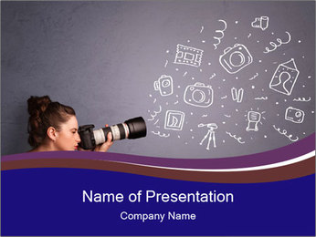 Young photographer PowerPoint Templates - Slide 1