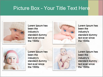 Baby on bed PowerPoint Templates - Slide 14