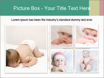 Baby on bed PowerPoint Templates - Slide 19
