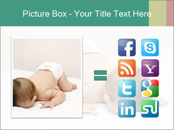 Baby on bed PowerPoint Templates - Slide 21