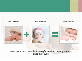Baby on bed PowerPoint Templates - Slide 22
