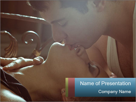 Happy loving couple PowerPoint Template