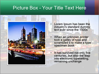 Melbourne by Night PowerPoint Templates - Slide 13