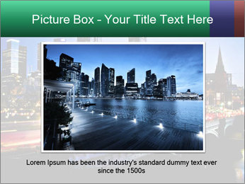 Melbourne by Night PowerPoint Templates - Slide 15