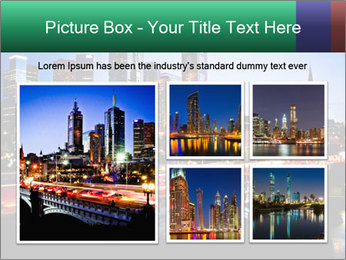 Melbourne by Night PowerPoint Templates - Slide 19