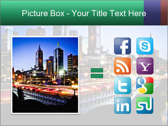 Melbourne by Night PowerPoint Templates - Slide 21