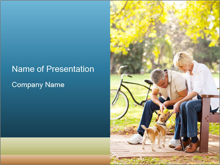 Happy middle aged couple PowerPoint Templates