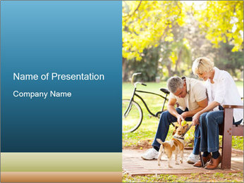 Happy middle aged couple PowerPoint Templates - Slide 1