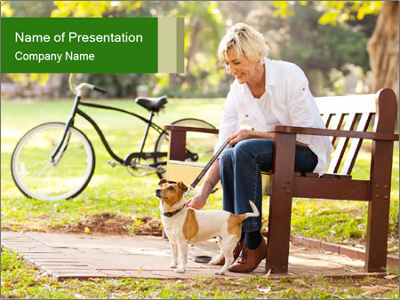 Happy mature PowerPoint Templates