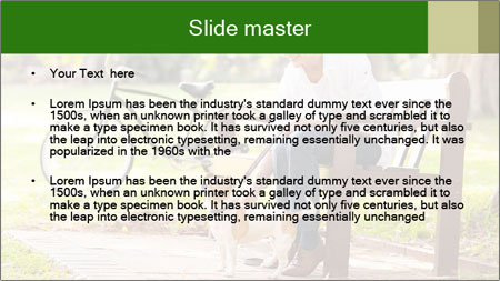 Happy mature PowerPoint Template - Slide 2