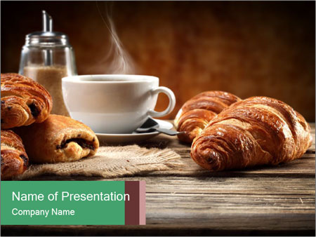 Decoration of coffee PowerPoint Templates