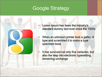 People Jumping at Beach PowerPoint Template - Slide 10