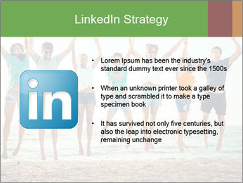 People Jumping at Beach PowerPoint Template - Slide 12