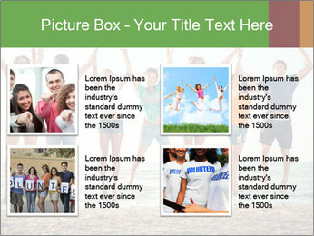People Jumping at Beach PowerPoint Template - Slide 14