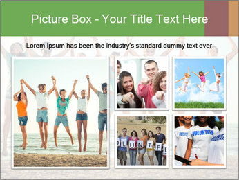 People Jumping at Beach PowerPoint Template - Slide 19
