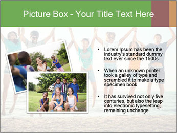 People Jumping at Beach PowerPoint Template - Slide 20