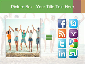 People Jumping at Beach PowerPoint Template - Slide 21