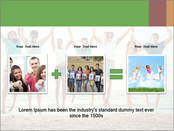 People Jumping at Beach PowerPoint Template - Slide 22