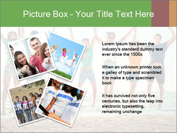People Jumping at Beach PowerPoint Template - Slide 23