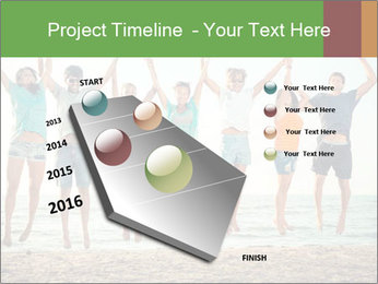 People Jumping at Beach PowerPoint Template - Slide 26