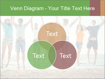 People Jumping at Beach PowerPoint Template - Slide 33