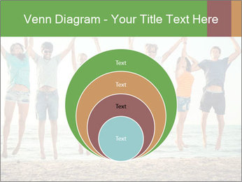 People Jumping at Beach PowerPoint Template - Slide 34