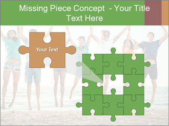 People Jumping at Beach PowerPoint Template - Slide 45