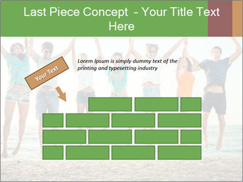 People Jumping at Beach PowerPoint Template - Slide 46