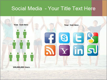 People Jumping at Beach PowerPoint Template - Slide 5