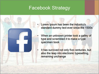 People Jumping at Beach PowerPoint Template - Slide 6