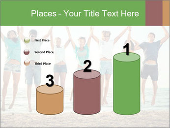 People Jumping at Beach PowerPoint Template - Slide 65