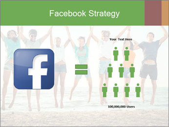 People Jumping at Beach PowerPoint Template - Slide 7