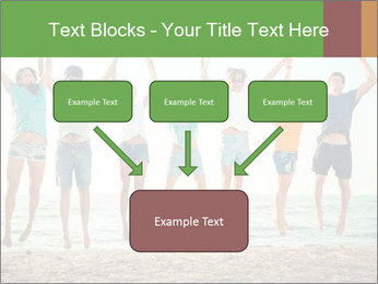 People Jumping at Beach PowerPoint Template - Slide 70