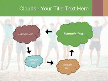 People Jumping at Beach PowerPoint Template - Slide 72
