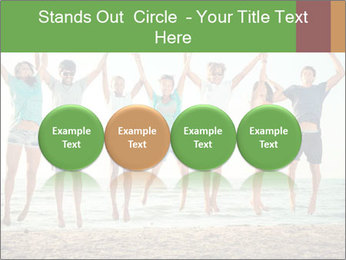 People Jumping at Beach PowerPoint Template - Slide 76