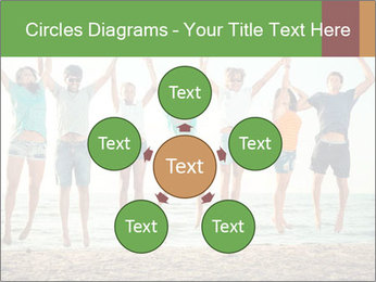 People Jumping at Beach PowerPoint Template - Slide 78