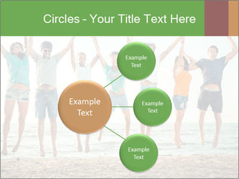 People Jumping at Beach PowerPoint Template - Slide 79