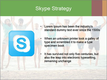 People Jumping at Beach PowerPoint Template - Slide 8