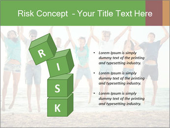 People Jumping at Beach PowerPoint Template - Slide 81