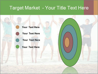 People Jumping at Beach PowerPoint Template - Slide 84